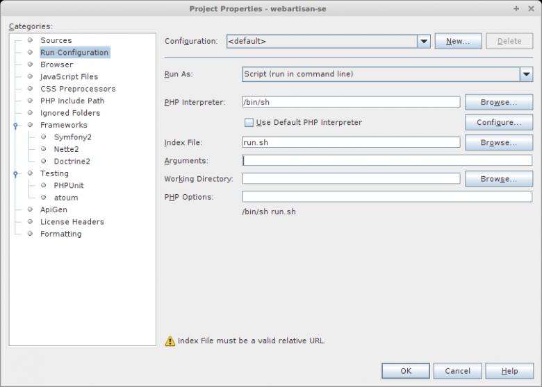 NetBeans run configuration for YUI Compressor